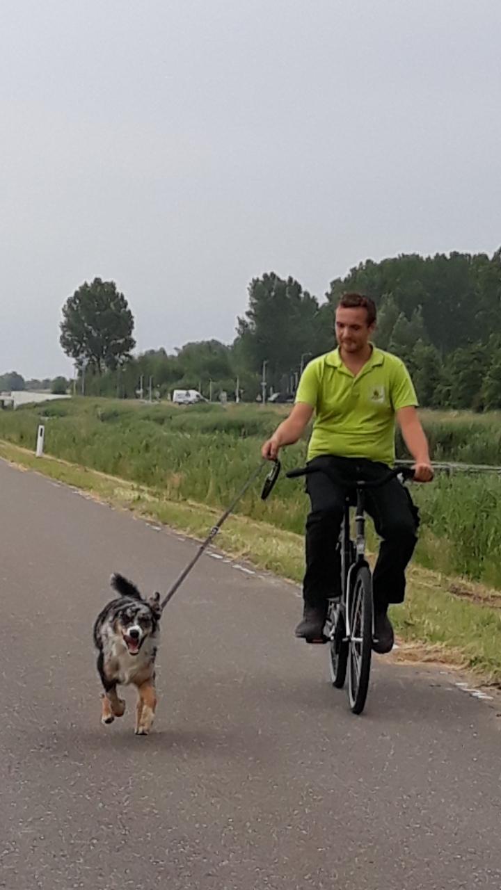 baymax met de fiets mee